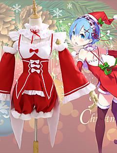 """billige Anime cosplay-Inspirert av Re: Zero - Start livet i en annen verden Nisse drakter / Rem Anime  """"Cosplay-kostymer"""" Cosplay Klær Jul Krage / Ermer / Kostume Til Dame"""