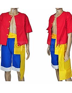 """billige Anime Kostymer-Inspirert av One Piece Monkey D. Luffy Anime  """"Cosplay-kostymer"""" Cosplay Klær N / A Topp / Shorts / Belte / bånd Til Unisex"""