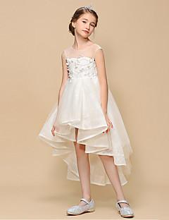 4fd06bb7b4b Princess Asymetrické Šaty pro květinovou družičku - Tyl Bez rukávů Klenot s  Krajka podle LAN TING Express
