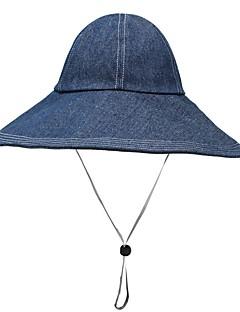 billige Hatter til damer-kvinners polyester sol lue / floppy hat - solid farget