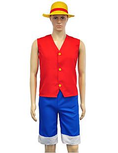 """billige Anime Kostymer-Inspirert av One Piece Monkey D. Luffy Anime  """"Cosplay-kostymer"""" Cosplay Klær N / A Topp / Shorts Til Unisex"""