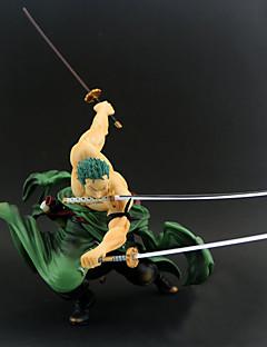 billige Anime cosplay-Anime Action Figurer Inspirert av One Piece Roronoa Zoro PVC 20 cm CM Modell Leker Dukke