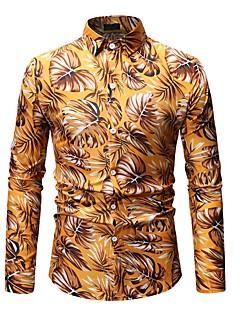 3852b9ed55 baratos Camisas Masculinas-Homens Tamanho Asiático Camisa Social - Praia  Básico Estampado