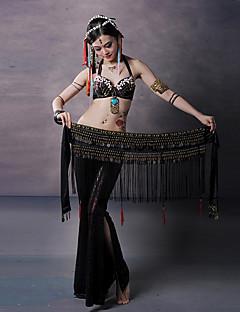 billige Halloween- og karnevalkostymer-Spansk Lady Kostume Dame Voksne Flamenco Halloween Karneval Maskerade Festival / høytid Polyester Legering Drakter Svart / Rød / kaffe Dusk