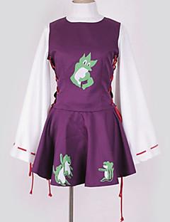 billiga Cosplay och kostymer-Inspirerad av Touhou Project Cosplay Animé Cosplay-kostymer cosplay Suits Mönster Topp / Klänning / Mer accessoarer Till Herr / Dam