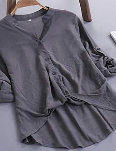 levne Dámské topy-dámská asijská štíhlá halenka - kulatý krk z pevného kůže 9c08f14725