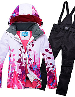 86e6aea6a9 RIVIYELE Women s Ski Jacket with Pants Skiing Camping   Hiking Winter  Sports POLY Chinlon Silk Cloth Tracksuit Ski Wear
