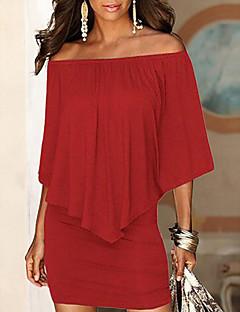 Χαμηλού Κόστους Γυναικεία Φορέματα-Γυναικεία Θήκη Φόρεμα Πάνω από το Γόνατο  Ώμοι Έξω dfbd7200e9c