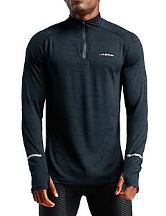 cheap Activewear-UABRAV Men's High Neck Zipper Track Jacket Black Sports Solid Color Elastane Jacket Hoodie Top Running Fitness Workout Long Sleeve Activewear Windproof Breathable Sweat-wicking Inelastic Loose