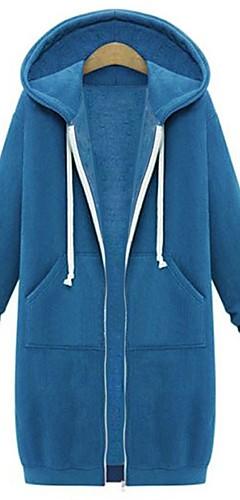 ieftine -Pentru femei De Bază / Șic Stradă Mărime Plus Size Bumbac Zvelt Pantaloni - Mată Bleumarin / Toamnă / Iarnă