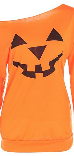 povoljno -Majica s rukavima Žene Halloween Geometrijski oblici žuta