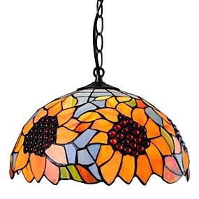 abordables Lampe Tiffany-Max 60W Tiffany Style mini Plaqué Lampe suspendue Salle de séjour / Salle à manger / Cuisine