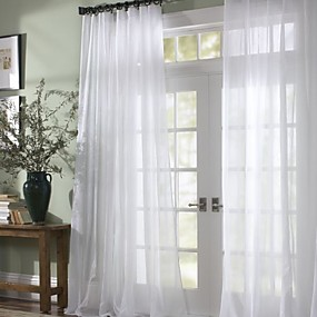 "cheap Sheer Curtains-Custom Made Sheer Sheer Curtains Shades Two Panels 2*(50W×96""L) / Bedroom"