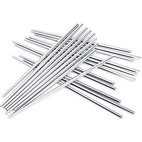 ieftine Veselă-anti-alunecare betisoarele din oțel inoxidabil de înaltă calitate (3 perechi)