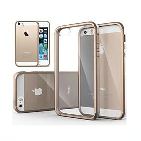 Χαμηλού Κόστους Ημερήσιες Προσφορές-tok Για iPhone 5 Θήκη iPhone 5 Διαφανής Πίσω Κάλυμμα Μονόχρωμο Σκληρή PC για iPhone SE / 5s / iPhone 5