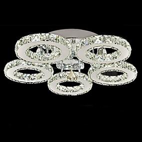 ราคาถูก ไฟเพดาน-UMEI™ Flush Mount Ambient Light ชุบโลหะด้วยไฟฟ้า โลหะ คริสตัล 90-240โวลต์ วอมไวท์ / ขาว รวมแหล่งกำเนิดไฟ LED / แบบมี LED