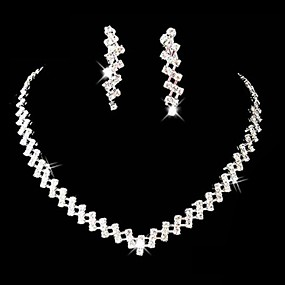 Women's Rhinestone Alloy Wedding Party Special Occasion Anniversary Birthday Engagement Gift Costume Jewelry