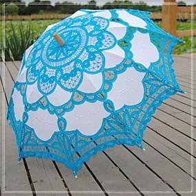 voordelige Bloemenmeisjesaccessoires-Kant Bruiloft Dagelijks Maskerade Strand Paraplu Paraplu 30.7Inch (Ongeveer 78cm)