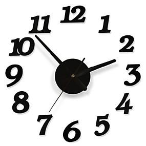cheap DIY Wall Clocks-DIY Adhesive Decal Modern Wall Digit Number Room Interior Decoration Clock