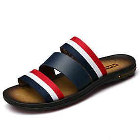 povoljno Muške papuče i japanke-Muškarci Koža Proljeće / Ljeto / Jesen Udobne cipele Papuče i japanke Cipele za vodu Crn