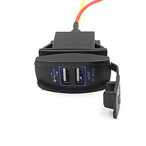 cheap Car Charger-Car Truck Boat Accessory 12V 24V Dual USB Charger Power Adapter Outlet Nice