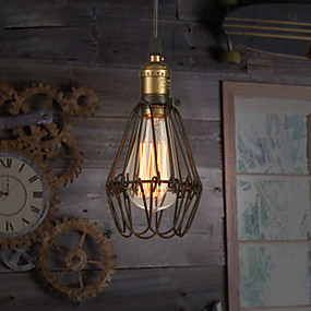abordables Plafonniers-Lampe suspendue Lumière d'ambiance Finitions Peintes Métal Style mini 110-120V / 220-240V Blanc Crème Ampoule incluse / E26 / E27