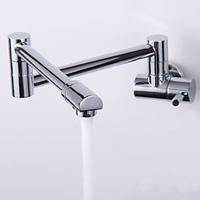 cheap Kitchen Faucets-Kitchen faucet - One Hole Chrome Pot Filler Deck Mounted Contemporary / Single Handle One Hole