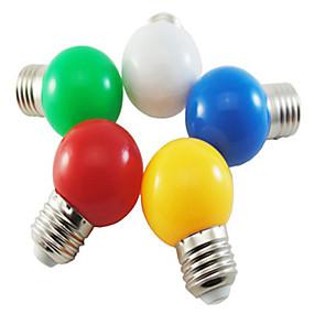 billige Globepærer med LED-1pc 1 W 80 lm E26 / E27 LED-globepærer G45 8 LED perler SMD 2835 Fest / Dekorativ / Jul Bryllup Dekorasjon Hvit / Rød / Blå 220-240 V / 1 stk. / RoHs
