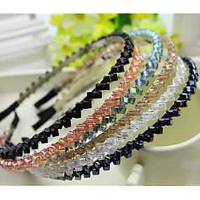 South Korea Imported Hairpin Rhinestone Beaded Head Hoop Decorations Double  Row Crystal Hair Band Purple 2eaf7c139d90