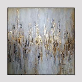 levne Abstraktní malby-Hang-malované olejomalba Ručně malované - Fantazie Moderní Obsahovat vnitřní rám / Reprodukce plátna