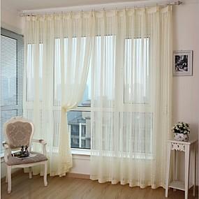 billige Gardiner ogdraperinger-miljøvennlige gardiner gardiner to paneler / jacquard / soverom