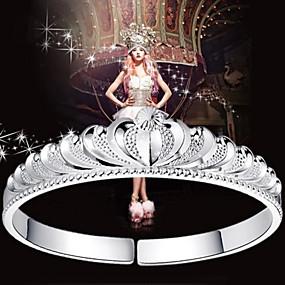 voordelige Bedelarmband-Dames Bangles Cuff armband Dames Sterling zilver Armband sieraden Zilver Voor Kerstcadeaus Bruiloft Feest Dagelijks Causaal Maskerade