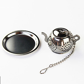 cheap Coffee and Tea-Teapot Tea Infuser with Mini Plate Stainless Steel Strainer Filter