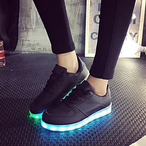 levne LED Boty-Dámské Boty Koženka Jaro   Léto   Podzim Svítící boty Rovná  podrážka 84e406b932