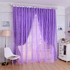 ราคาถูก ผ้าม่าน-เฉดสีผ้าม่านเชียร์ หนึ่งช่อง W99cm×L200cm สีเหลือง / Living Room