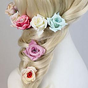 baratos Floral-Pedraria & Cristal / Tecido Peça para Cabeça / Pino de cabelo com Cristais 1 Casamento / Festa / Noite / Casual Capacete