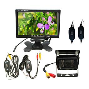 economico Offerte speciali-Telecamera per retrovisione da auto Monitor da 7 pollici per desktop + telecamera per bus wireless