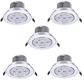 رخيصةأون خصم 50%-HRY 5pcs 7 W LED ضوء سبوت LED Ceilling Light Recessed Downlight 7 الخرز LED طاقة عالية LED ديكور أبيض دافئ أبيض كول 85-265 V / بنفايات / 90