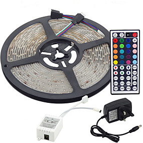 economico Wanna Train Your Dragon? Be a VIKING First!-5m 300x3528 smd rgb led strip light e telecomando 44key e alimentatore 3a uk (ac110-240v) autoadesiva flessibile collegabile dimmerabile