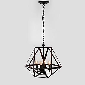 billige Hengelamper-4-Light Geometrisk Anheng Lys Omgivelseslys Malte Finishes Metall Stearinlys Stil 110-120V / 220-240V Pære ikke Inkludert / E12 / E14 / FCC