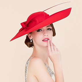 cheap Del Mar Hats-Fabric Kentucky Derby Hat / Hats with 1 Wedding / Special Occasion / Casual Headpiece