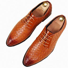 baratos Oxfords Masculinos-Homens Sapatos formais Couro Ecológico Primavera / Outono Formais Oxfords Preto / Branco / Amarelo / Festas & Noite / Festas & Noite