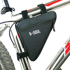 preiswerte Fahrradrahmentaschen-B-SOUL Fahrradrahmentasche Dreieck-Rahmentasche Feuchtigkeitsundurchlässig tragbar Stoßfest Fahrradtasche Polyester PVC Terylen Tasche für das Rad Fahrradtasche Radsport / Fahhrad