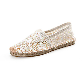 voordelige Damesinstappers & loafers-Dames Loafers & Slip-Ons espadrille Platte hak Espadrilles Wandelen Zomer Wit / Zwart / Rood