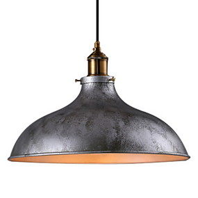 abordables Plafonniers-bol Lampe suspendue Lumière dirigée vers le haut Finitions Peintes Métal Style mini 110-120V / 220-240V Ampoule non incluse / E26 / E27