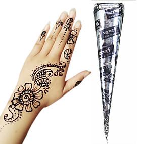 povoljno Privremene boje-1 pcs Kana boje Privremene tetovaže Non Toxic / Velika veličina / Tribal Body Arts Lice / ruke