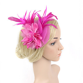Feather   Net Fascinators with 1 Wedding   Special Occasion Headpiece 8b794b204ff