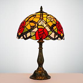 abordables Lampe Tiffany-Tiffany / Traditionnel / Classique Arc Lampe de Bureau Pour Résine 110-120V / 220-240V