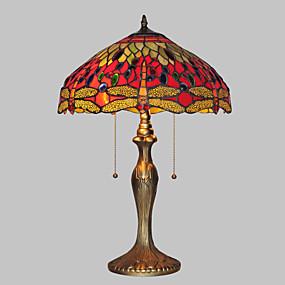 billige Tiffany Lamper-Tiffany Bordlampe Metall Vegglampe 110-120V / 220-240V