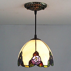 billige Tiffany Lamper-25W Anheng Lys ,  Traditionel / Klassisk / Tiffany Maleri Trekk for Mini Stil Metall Soverom / Inngang
